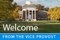 Welcome from the Vice Provost